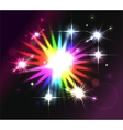 Blue flash shining star vector image vector image