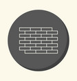 brick wall round linear icon with the vector image vector image