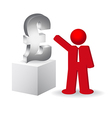 Business man showing the lira sign vector image vector image