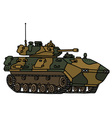 Camouflage track armoured vehicle vector image