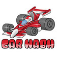car wash symbol isoalted on white vector image vector image