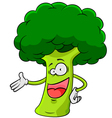 cartoon broccoli vector image vector image