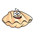 Cartoon clam shell or mussel vector image