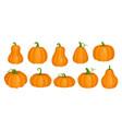 cartoon orange cute pumpkin clipart collection vector image