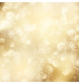 christmas background golden snowflakes vector image vector image