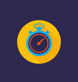 chronometer icon flat style vector image