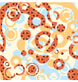 circles on decorative background vector image