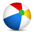 colorful beach ball isolated on a white background vector image vector image