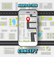 colorful global positioning system concept vector image vector image