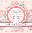 cute little princess - rabbit cartoon vector image