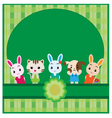 Cute pet background vector image