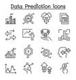 data prediction icon set in thin line style vector image