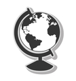 Earth world map sphere vector image vector image
