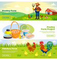 farming horizontal banners set vector image vector image