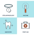 Flat medical background vector image vector image