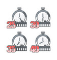 four timers in set vector image vector image