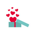 gift box with hearts isolated icon vector image vector image
