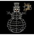 Glowing Christmas snowman vector image