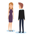 group of young couple poses and styles vector image vector image