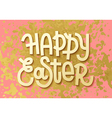 Happy Easter Gold leaf boho chic greeting card vector image vector image