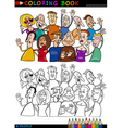 Happy People group for coloring vector image vector image