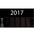 horizontal calendar for 2017 vector image