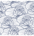 ink hand drawn lotus seamless pattern coloring vector image vector image