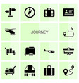 journey icons vector image vector image