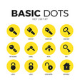 key flat icons set vector image vector image