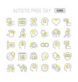 line icons autistic pride day vector image vector image