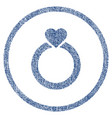 love ring rounded fabric textured icon vector image