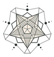 modern star pentagon design tattoo image vector image