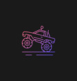 monster truck racing gradient icon for dark theme vector image