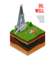 oil well profile background vector image vector image