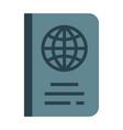 passport flat vector image
