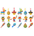 pinata elements for mexican party children vector image