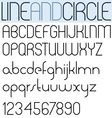 Poster thin black font and numbers on white vector image vector image