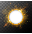 round frame with orange light burst out in vector image vector image