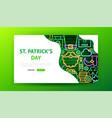 saint patricks day neon landing page vector image