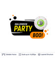 scary eye and halloween text vector image vector image