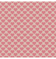 Seamless hearts pattern retro texture pink hearts vector image vector image