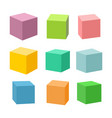 set blank colorful toy bricks vector image vector image