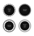 set of four black frame isolated on white vector image vector image