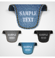 Set of jeans lebels vector image