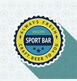 soccer pub badge vector image vector image