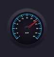 Speedometer Blue vector image vector image