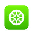 sprocket from bike icon digital green vector image vector image