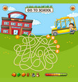 student maze game template vector image vector image