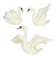 swan symbol set vector image