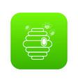 swarm icon green vector image vector image
